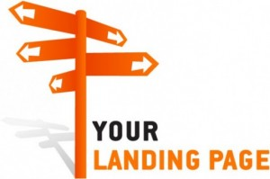 your landing page